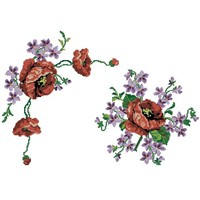 Yeni Çok Hoş Çiçek Nakış Deseni
