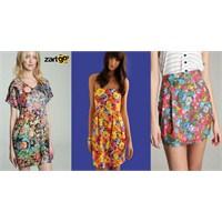 Floral Desen Elbise Modelleri