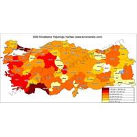 Türkiye Konaklama Yoğunluğu Haritası 2009