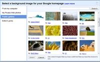 Google Arama Sayfasına Arka Plan Resmi
