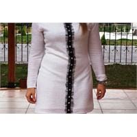 Yıldızlı Keten Elbise-linen Dress