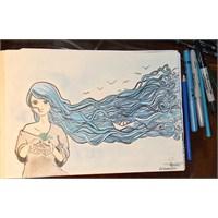 Saçlarında Martılar Uçuşan Kız