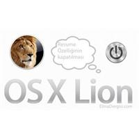 """Os X Lion """"Resume"""" Özelliğinin Kapatılması"""