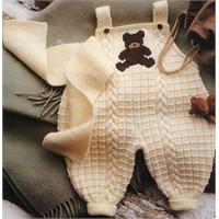 Askılı Örgü Bebek Tulumu Modeli