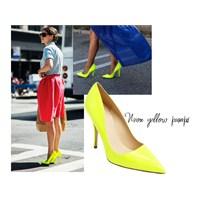Neon Sarı Ayakkabıyla Işıldayın