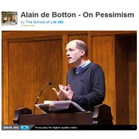 The School Of Life Ve Alain De Botton İle Pesimism
