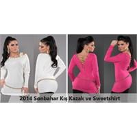 2014 Sonbahar Kış Bayan Kazak Ve Sweetshirt Modası