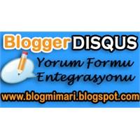 Blogger Disqus Yorum Formu Ekleme
