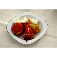 Etli Kabak-biber-domates Dolması Tarifi