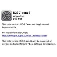 Geliştiriciler İçin İos 7 Beta 3 Çıktı