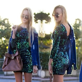 2014 Mini simli elbise modelleri