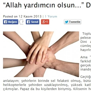 """""""Allah yardımcın olsun…"""" Derken"""