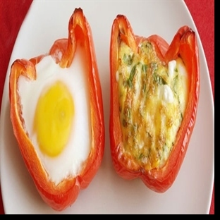 Biberde yumurta tarifi