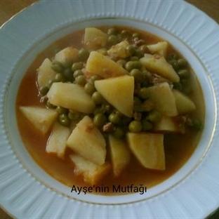 Kıymalı Bezelyeli Patates Yemeği