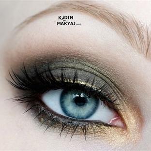 Siyah Bronz Göz Makyajı Yapımı