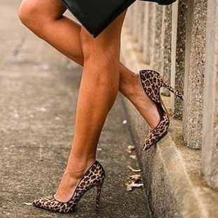 Trend: Leopar Desenli Topuklu Ayakkabı