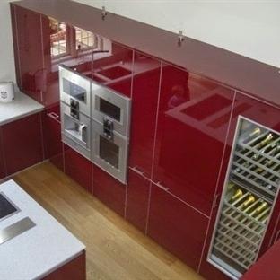 2014 Modası: Bordo Mutfak Dekorasyon Örnekleri