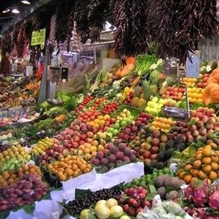 Barcelona La Boqueria pazarı