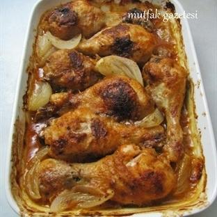 biberli-sirkeli fırında tavuk baget