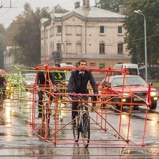 Bisikletli Aktivistlerden Bambulu Eylem