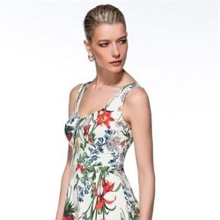 Çiçek Desenli Elbise Modelleri 2015