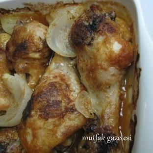 değişik bir sos ve fırında tavuk baget