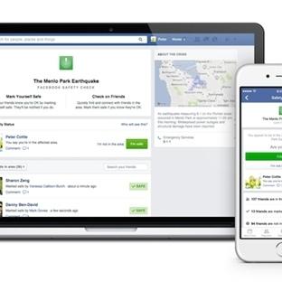 Facebook, Afet Anına Sizi Kontrol Edecek