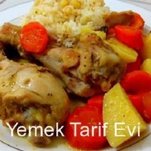 Fırın Poşetinde Sebzeli Tavuk Baget Tarifi