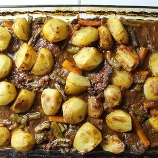 Fırında Organik Yayla Patatesli Biftek