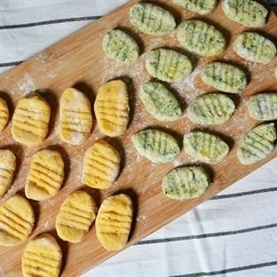 Gnocchi mit Spinat und Süßkartoffel