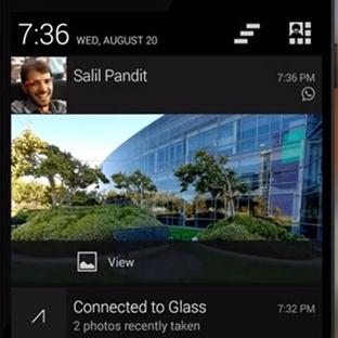 Google Glass Artık Tüm Bildirimleri Gösteriyor!