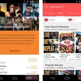 Google, Play Store'un tasarımını değişime gidiyor