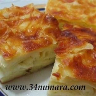 Hazır yufkadan peynirli börek yapımı