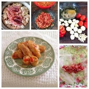Sebzeli ve Kepek Pirinçli Beyaz Lahana Sarması