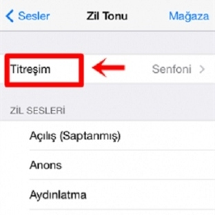 iPhone Titreşim Nasıl Açılır