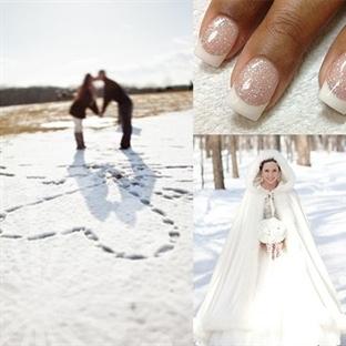 Kış Mevsimi Romantik Eğlenceli Düğüne Engel Değil