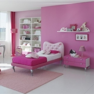 Kızlar İçin Pembe Oda Dekorasyonları