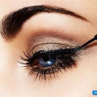 Koyu Altın Göz Makyajı