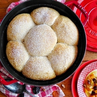 Lebkuchenbuchtel mit Ahornsirup-Nuss & Backobst