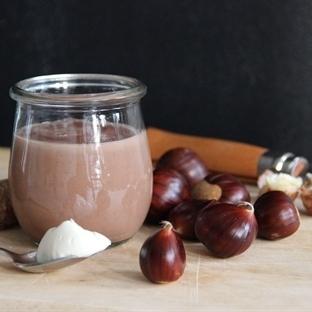Maronen-Creme mit Vanille und Schokolade