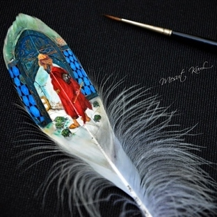 Mesut Kul'dan Harika Minyatür Çizimler