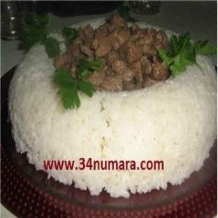 Nefis Kavurmalı pirinç pilavı