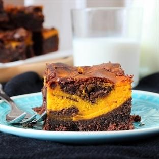 Pumpkin Swirl Brownies