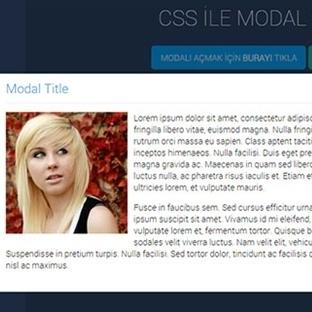 Sadece CSS ile Modal Yapımı
