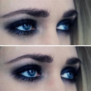 Siyah buğulu göz makyajınızı kendiniz yapın