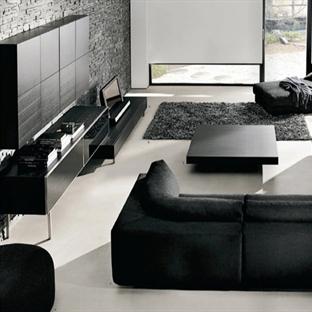 Siyah Salon Dekorasyonu