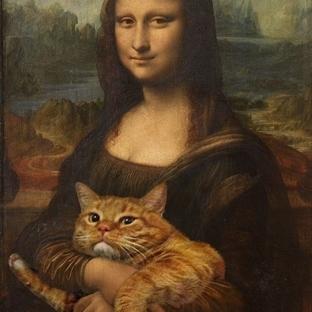 Ünlü Resimlerde Kediler! Hem de şişman ve sarman!