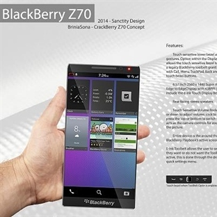 BlackBerry Z70 Görenleri Etkiledi.