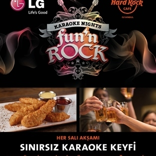 Hard Rock Cafe'de Karaoke Eğlencesi
