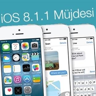 iOS 8.1.1 Güncellemesi Çıktı!